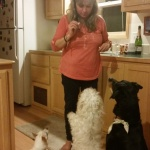 Jenn with the pups