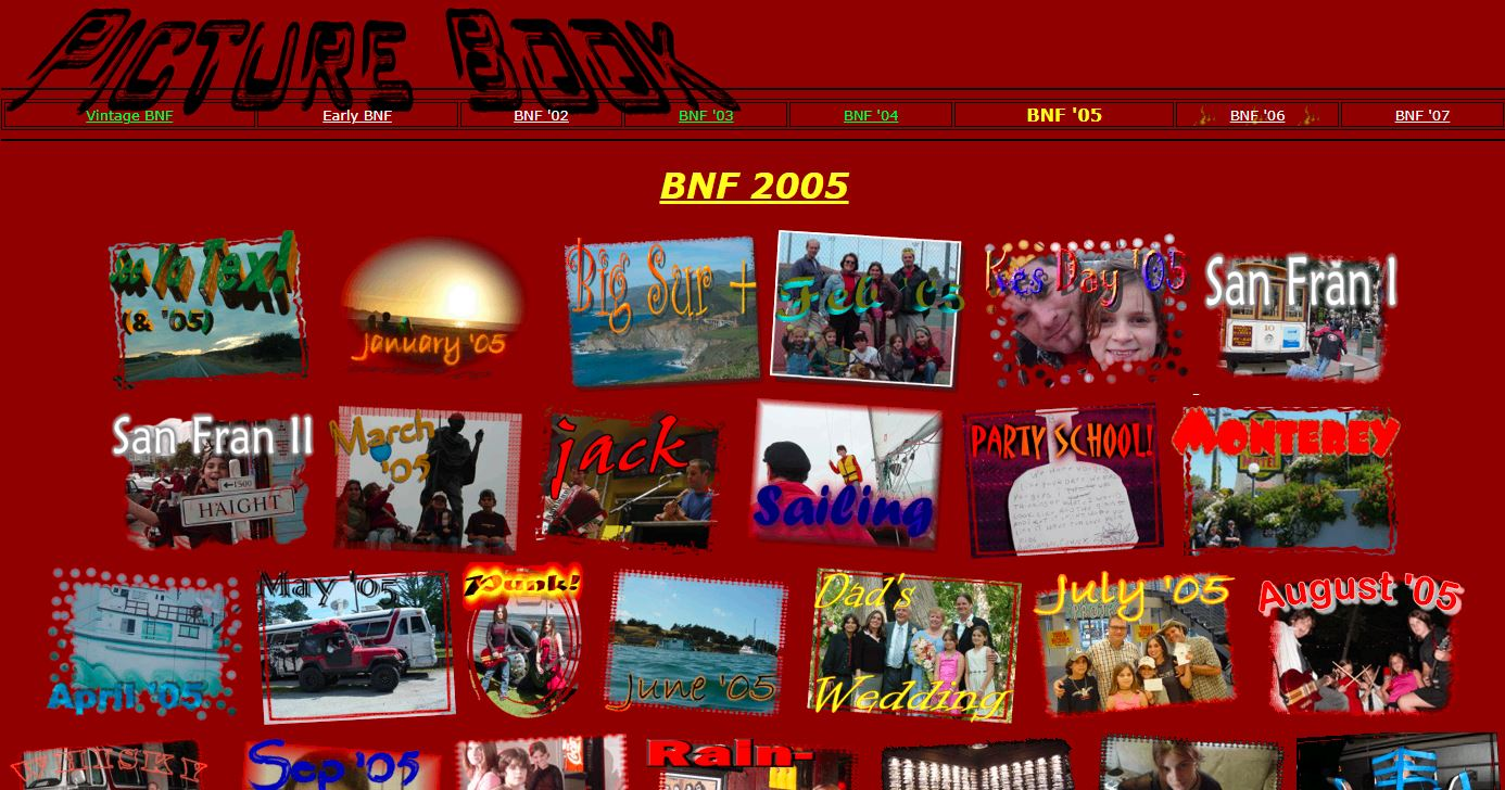 screenshot and link to early bnf 2005 pages